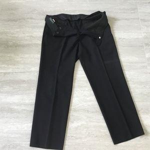 Laurens men's black flat front dress pants